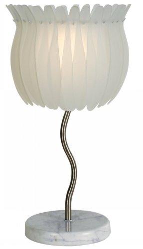 Trend Lighting TT6962 Lotus 2-Light Table Lamp, Brushed Nickel (Table Trend Nickel Lamp)