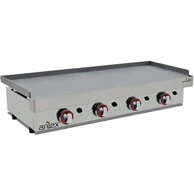 Plancha a gas ARILEX en acero laminado de 6 mm con medidas 1210x457x240h mm 120PGL