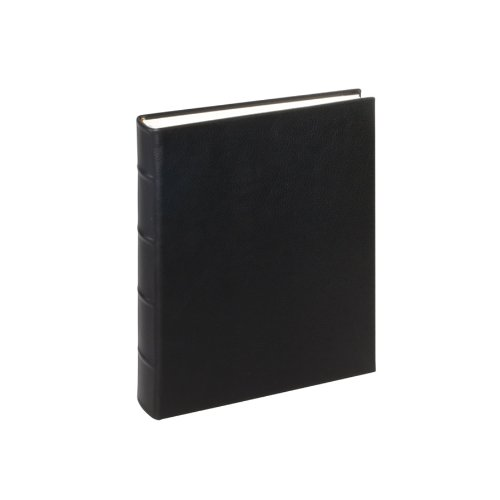 Genuine Italian Leather Bound Album, 60 Pages, Photo Squares Included, 8'' x 9-1/2'', Black by Graphic Image