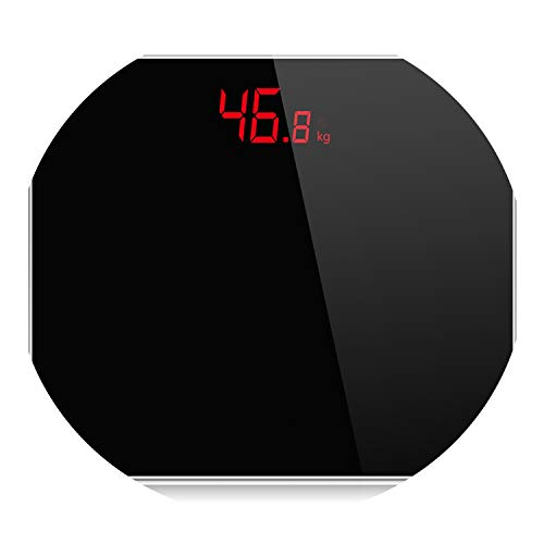 A3 Bathroom Scales Accurate Smart Electronic Digital Weight Home Floor Health Balance Body Glass Led Display 180 Kg,Black (Best Electronic Scale Inhibitor)