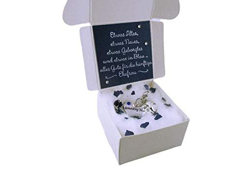 Etwas Blaues Mit Geschenkschachtel Geschenk Braut Hochzeit Brauch Amazon De Handmade