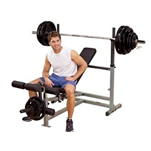 Body Solid GDIB46LP Olympic Bench Package, Includes GDIB46L, GPCA1, and GLRA81