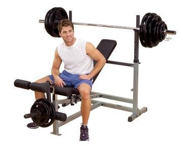 Body Solid GDIB46LP Olympic Bench Package, Includes GDIB46L, GPCA1, and GLRA81 by Body-Solid