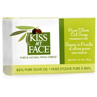 Kiss My Face Pure Olive Oil Bar Soap 1.41 oz Travel Size