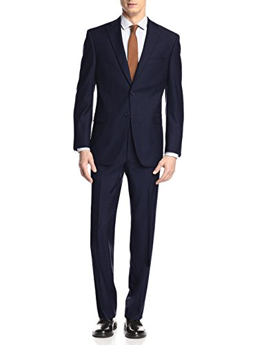 (GN GIORGIO NAPOLI Presidential Two Button Mens Suit Modern Classic Fit (40 Regular US / 50R EU/W 34