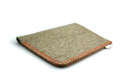 Notebook Case Wool Felt - iPad Air - Hand-sewn using an eye-catching whipped orange seam