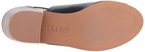Linette Women Black Sandal Dress Groove F5A6Uxqw6