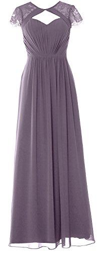Formal Sleeves Long Gown Cap Elegant Evening Dress Wisteria MACloth 2018 Bridesmaid wt8ESqq