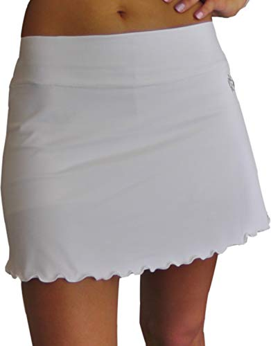 LENNA LEVANN Falda Padel evase Blanca | Modelo Basico con Short Interior | Falda Deportiva para