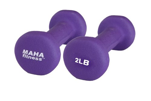 Maha Fitness Neoprene Coated Dumbbells 2 Pack (2 LB)