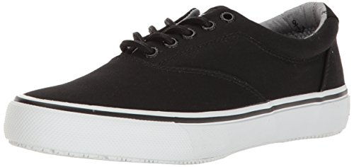 Sperry Top-Sider Herren Striper LL CVO Fashion Sneaker Schwarze Leinwand