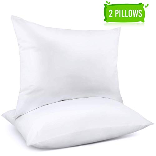 Adoric Pillows, Pillows for Sleeping (2-Pack) Down Alternative Bed Pillows 100% Cotton, Hypoallergenic & Dust Mite Resistant - Standard
