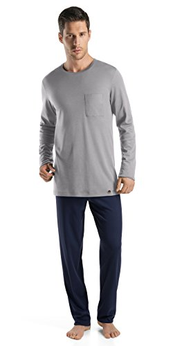 Hanro Men's Night and Day Long Pajama Set, Mineral, XX-Large