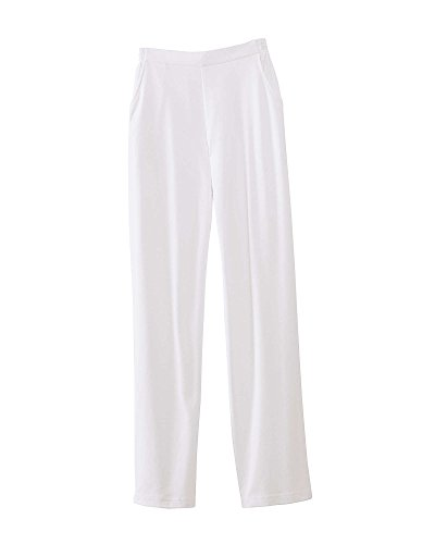 UltraSofts Flat Front Pants, White, Petite Large