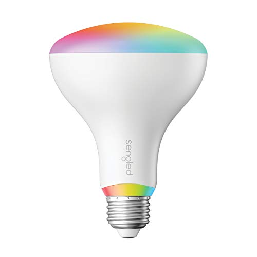 Sengled Smart LED Multicolor BR30 Bulb, Hub Required, RGBW Color & Tunable White 2000-6500K 75W Equivalent, Works with Alexa, Google Assistant & SmartThings, 1 Pack