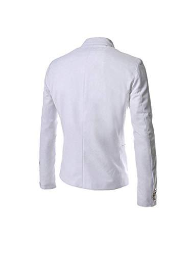 Blazer Manteau Pour Coupe Boutonnage Homme Survêtement Double Col Costume Party Coat Retro Blanc Ronde Hommes Vestes Tuxedo vCHxCnrw
