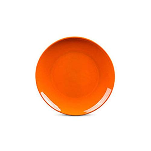 1 Pc 10 Inch Melamine Round Plate Dish Eco Friendly Dinnerware Spaghetti Fruit Pastry Buffet Hot Pot Shop Kitchen Bbq Use,Orange (Pier Melamine Plates One)