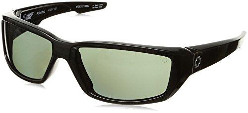 (Spy Optic Dirty MO Flat Sunglasses, Black/Happy Gray/Green Polar)