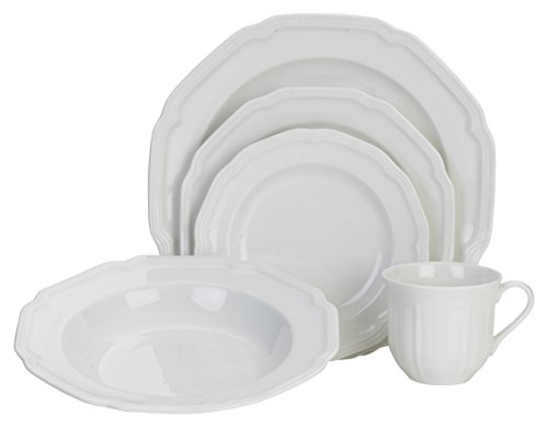 Mikasa 5224779 Antique White 40-Piece Dinnerware Set, Service for (Mikasa White Dish)