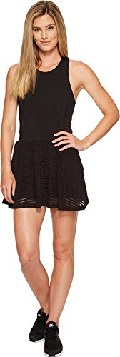 Lucy Women's Ready Set Layer Dress Lucy Black Stripe Mesh Dress ()