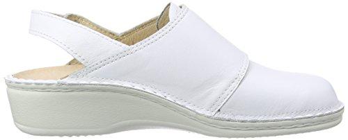 Finn Comfort Assuan, Women's Clogs White - Weiß (Weiss)
