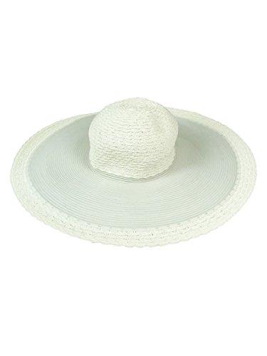 Nine West Women's Sheer Mesh Woven Floppy Hat (OS, Ivory)