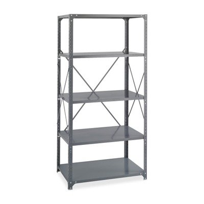 Safco Products 6266 Commercial Shelf Kit 36''W x 18''D x 72''H with 5 Shelves, Gray by Safco Products