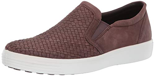 ECCO Men's Soft 7 Slip On Sneaker Coffee Plaited 45 M EU (11-11.5 US)