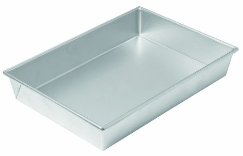 Chicago Metallic Commercial II Traditional Uncoated Bake N' Roast Pan, 13 by 9 by 2-1/4-Inch - Heavyweight Roast Pan