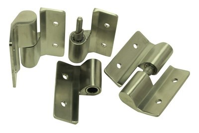 Surface Mount Hinge Set 3 PC. LH/Inswing-RH/Outswing cast stainless steel by Glen Products Inc (Image #1)
