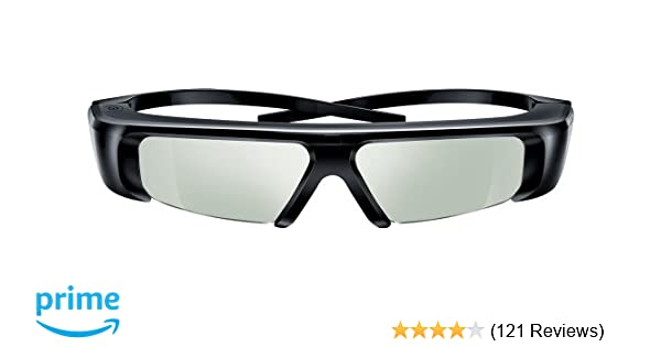 ad9777d2c Amazon.com: Samsung SSG-2100AB Battery 3-D Glasses - Black (Compatible with  2010 3D TVs): Electronics