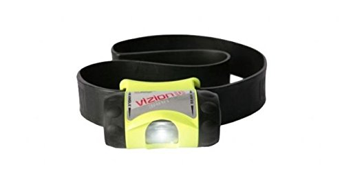 Underwater Kinetics 3AAA VIZION-I Headlamp, Woven Band