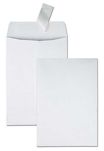 - Quality Park Redi Strip Catalog Envelope, 6 1/2 x 9 1/2, White, 100/Box (44334)
