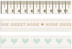 Kaisercraft Homemade Ribbon Embellishment Pack, 3 Designs/60cm ()
