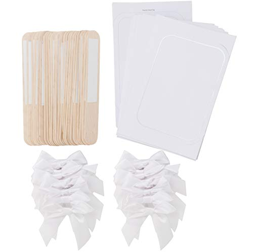 Simplicity White Wedding Fan Kit, 24pc, 5'' W x 7'' H