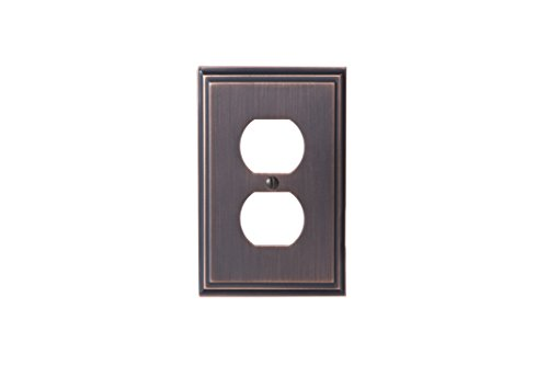 Amerock BP36522ORB Mulholland 1 Receptacle Wall Plate - Oil-