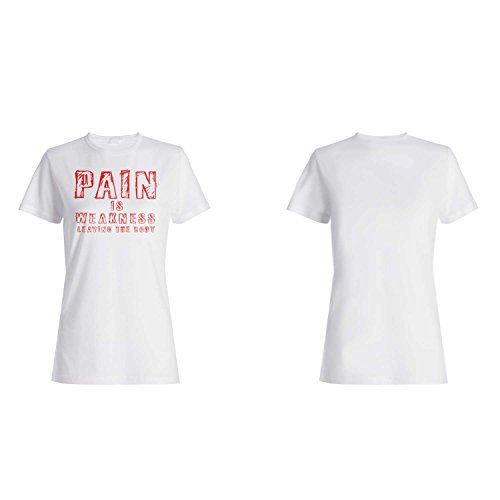 El dolor es debilidad dejando el cuerpo divertido camiseta de las mujeres e44f