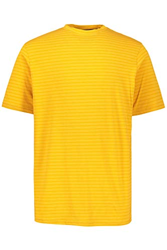 (JP 1880 Men's Big & Tall Subtle Striped Tee Yellow Stripe Large 716913 60)
