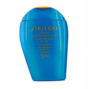 Shiseido Ultimate Sun Protection Lotion N' Broad Spectrum SPF 50 for Face/Body for Unisex, 3.3 Ounce
