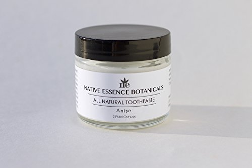 Natural Toothpaste With Coconut Oil, Xylitol And Calcium 2 fl oz - Anise Flavored - Freshens Breath And Deep Cleans Teeth