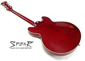 Guitarra Eléctrica Spear® RD-BLUES Hollowbody, transparent Red ...