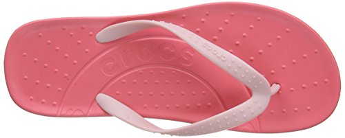 Crocs Hawaii, Tongs femme Rouge (Coral/Pearl Pink)