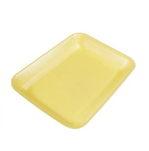 Yellow Foam Meat Tray - CKF 2Y, 2 Yellow Foam Meat Trays, Disposable Standard Supermarket Meat Poultry Frozen Food Trays, 100-Piece Bundle