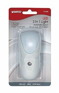 Satco 3 in 1 0.3 WホワイトLED緊急ライト夜間ライトフラッシュライト- - - - - - - B00PPNB8D0