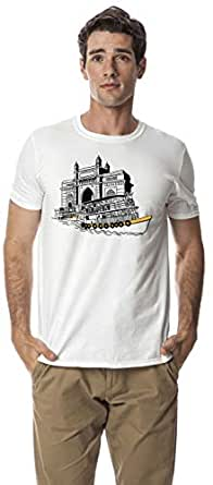 Gateway of India crew neck tshirt, White XL