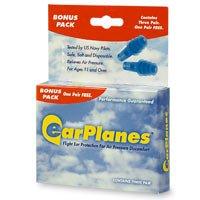 EarPlanes Earplugs, Flight Ear Protection, 3 pr - 2pc