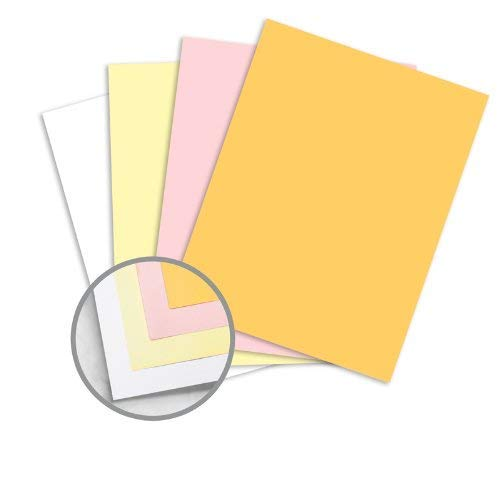 NCR Paper* Brand Superior Multi-Colored Carbonless Paper - 8 1/2 x 11 in 21.3 lb Bond Precollated 4-Part RS Goldenrod, Pink, Canary, White 500 per Ream