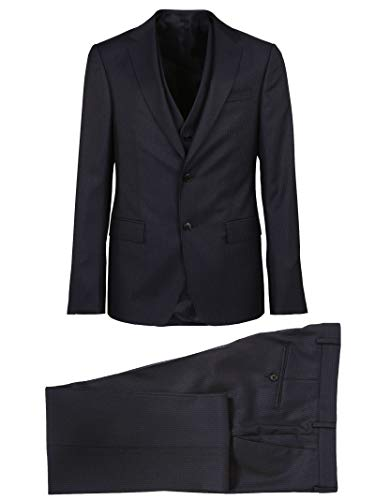 Z Zegna Men's 224782381Cgn8r Blue Wool Suit for sale  Delivered anywhere in USA
