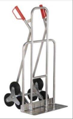 mit Dreisternr/äder Vollgummi mit breiter Schaufel JRIP Alu Industrie Treppenkarre 200 kg ,
