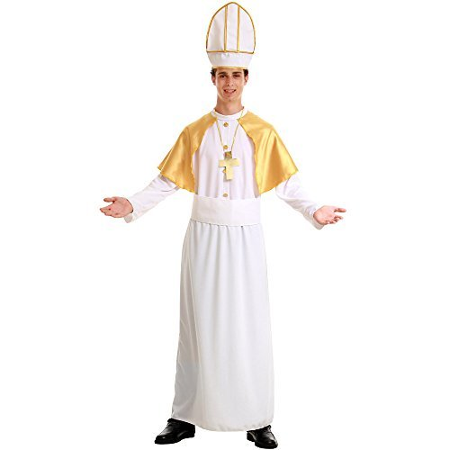Pious Pope Men's Halloween Costume Catholic Cardinal Bishop Pontiff Clergy (Male Role Playing Costumes)